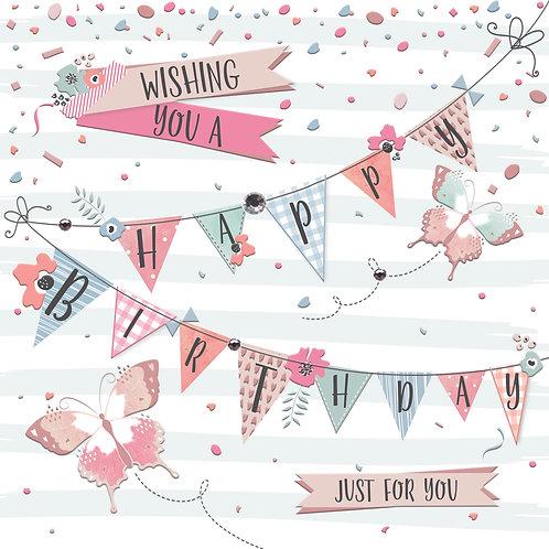 Confetti 'Birthday Bunting' Card