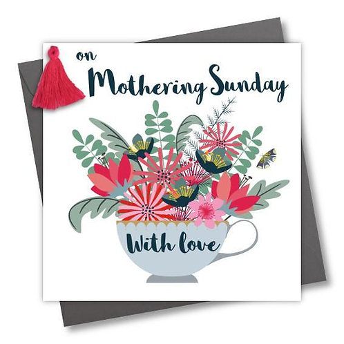 Claire Giles 'Flowers & Teacup' Mothering Sunday Card