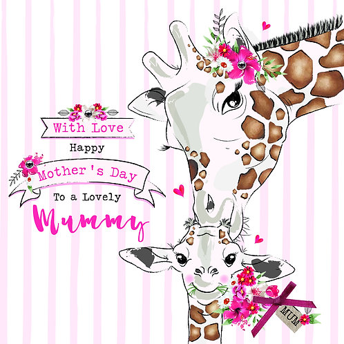 Lovely Mummy Giraffes Mother's Day Card