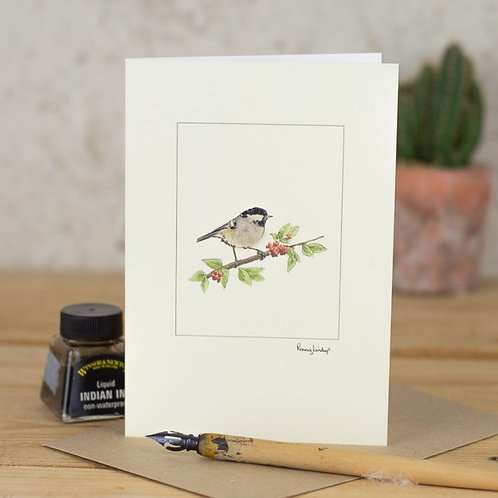 'Coal Tit' Card by Penny Lindop