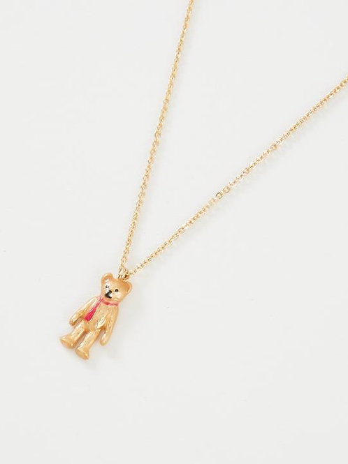 Enamel Teddy Necklace by Fable