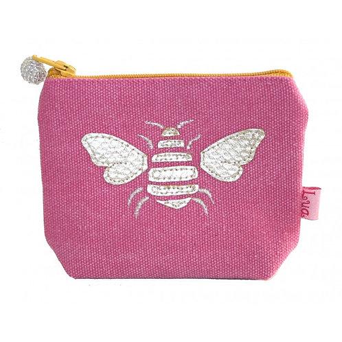 Gold Bee Mini Purse - Pink