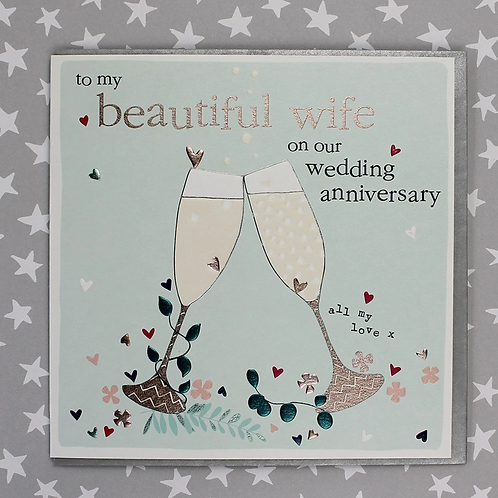 Molly Mae 'To My Wife' Anniversary Card