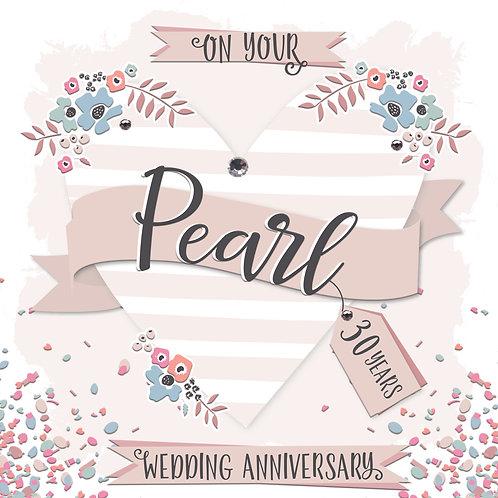 Confetti Pearl Anniversary Card