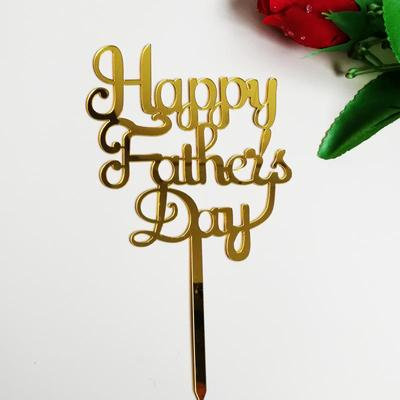 'Happy Father's Day' Cake Topper, Gold