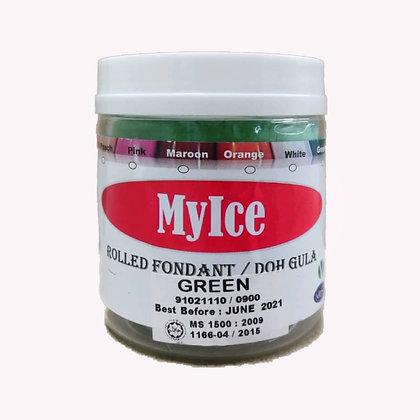 MyIce Rolled Fondant, 300g Green