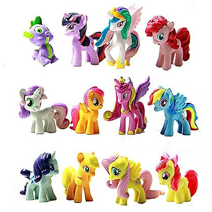 My Little Pony Figurine Cake Topper Set of 12