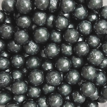 4mm Dark Grey Pearlised Sugar Beads 80g