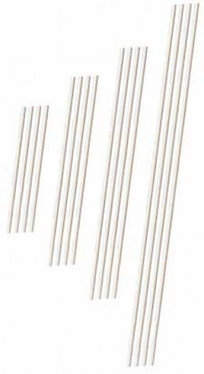 Paper Sucker Sticks 12 cm, 50 pcs