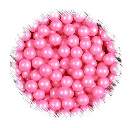 4mm Pink Pearlised Sugar Beads 80g