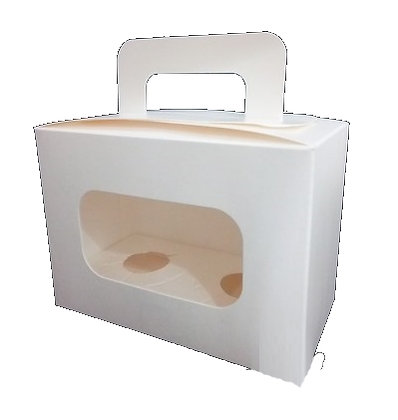 Cupcake Box 2 cavity with handle