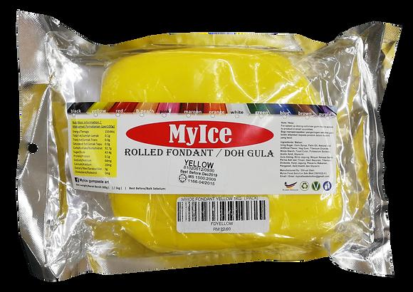 MyIce Rolled Fondant, 1kg Yellow