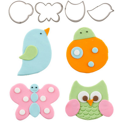 Cutie Cupcake Cutters, Flutter Friends Set/4