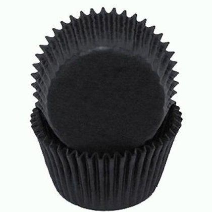 Black Glassine Cupcake Liners 2 inch (Size 12)