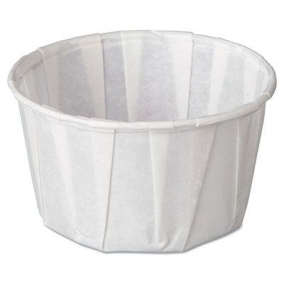 Genpak F250 2.5 oz. Paper Souffle/Portion, 30/pk