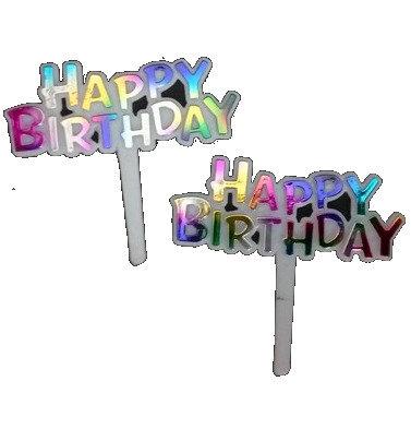 Rainbow 'Happy Birthday' Picks 5 pcs
