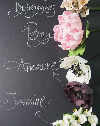 Sugar Flowers - Peony, Anemone, Hydrangeas & Jasmine