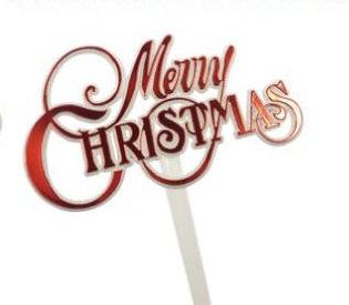 'Merry Christmas' Red Picks 5 pcs