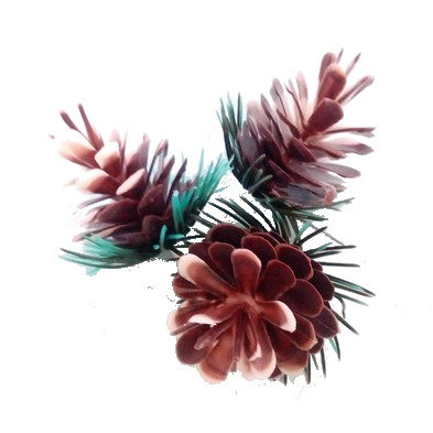 Christmas Pine Cones Picks 5 pcs