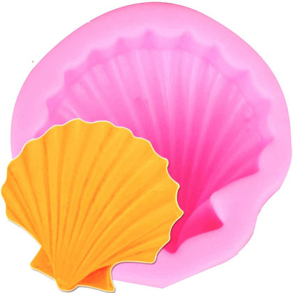 Single Sea Shell Silicone Mold, 4.8 cm