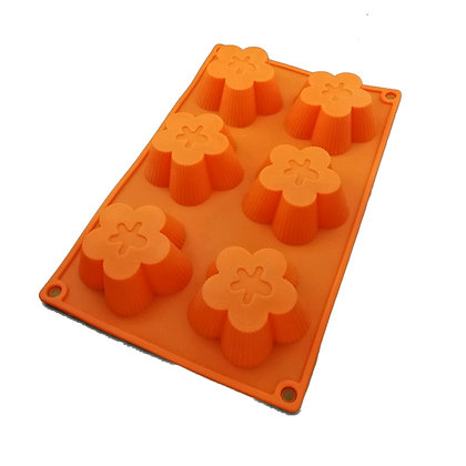 Floral Jelly/ Cake Silicone Mold 8s