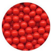 7mm Red Sugar Beads 80g