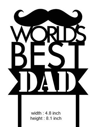 World's Best Dad' Father's Day Cake Topper