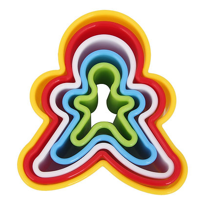 Gingerbread Man Nesting Plastic Cookie Cutter Set of 5