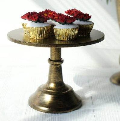 Cake Stand, Vintage Gold 25 cm