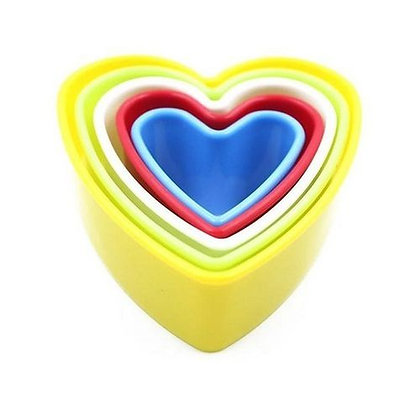 Heart Nesting Plastic Cookie Cutter Set of 5