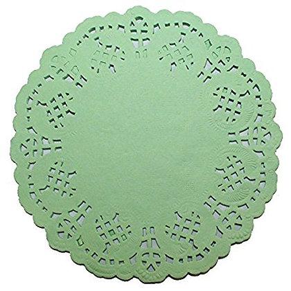Cake Doilies, Green 4.5 inch 100 pcs