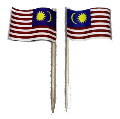 Malaysian Flag Picks 10 pcs