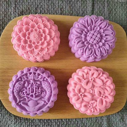 Mooncake Mold Set of 4 designs (125g)