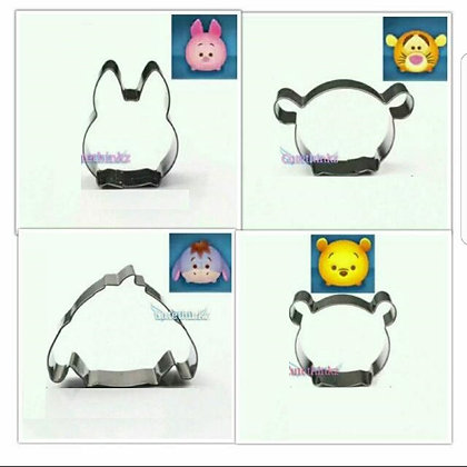 Cake Connection Cookie Cutter Series: Tsum Tsum Pooh Set/4