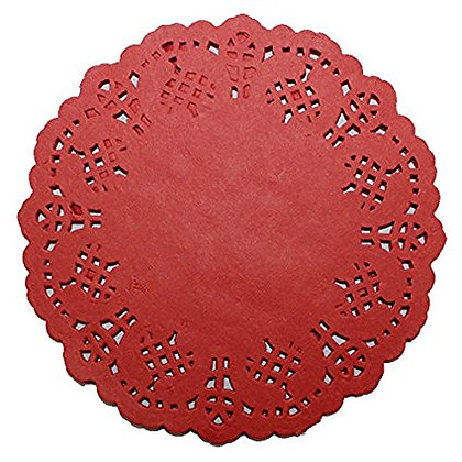 Cake Doilies, Red 4.5 inch 100 pcs