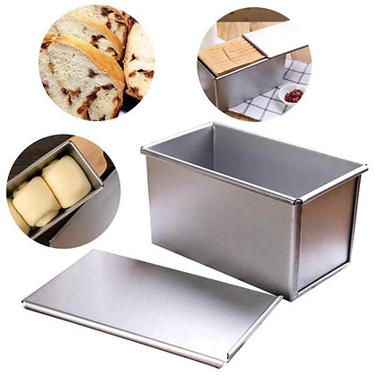 Aluminium Bread Loaf Pan with Cover (450g)