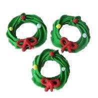 Christmas Wreath, Green 15 pcs
