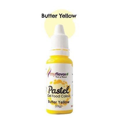 My Flavor Pastel Gel Colour  0.88oz - Butter Yellow