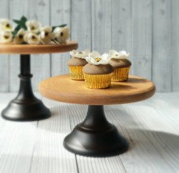Cake Stand, Woodtop 30 cm