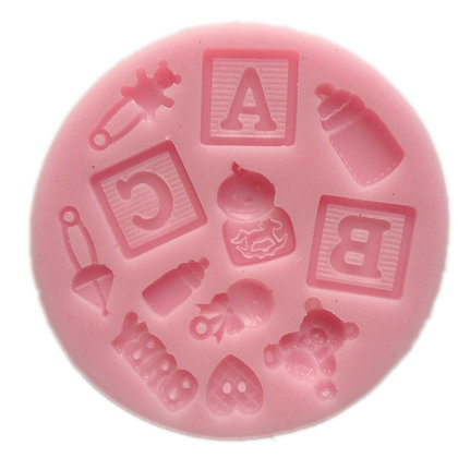 Baby Items with Blocks Silicone Mold