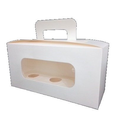 Cupcake Box 3 cavity with handle