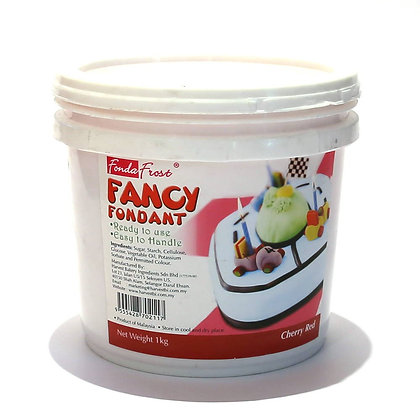 Fonda Frost Fondant 1kg, Cherry Red