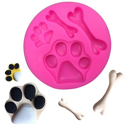 Dog Paw & Bone Silicone Mold