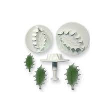 Veined Holly Plunger Cutter Set of 3