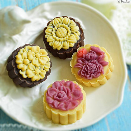 Mooncake Mold Set of 4 designs (50g)