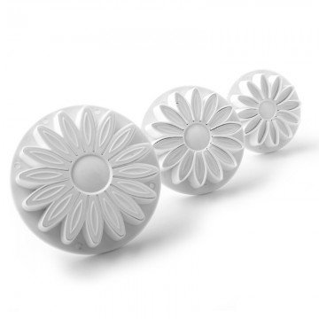 Gerbera Flower Plunger Cutter Set of 3
