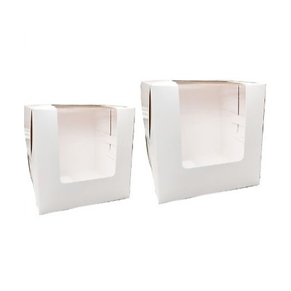 Cake Box with Window 6 x 6 x 6(H) inch