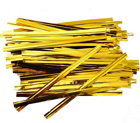 Gold Twist Ties, Approx. 700 pcs/pk
