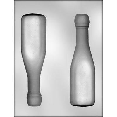 3D Champagne Bottle Chocolate Mold