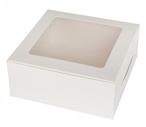 Cake Box, Square with Window 8 x 3(H) inch